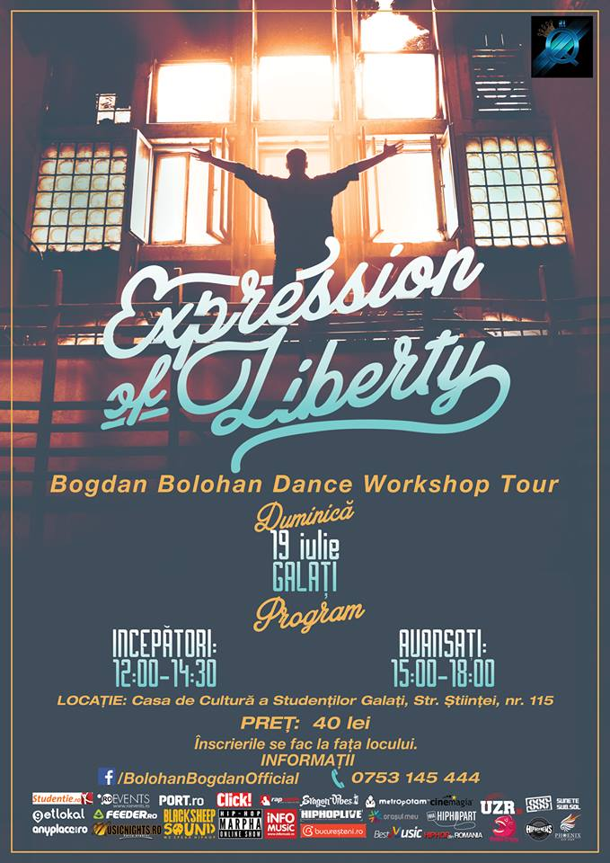 Poster - Galati - Bogdan Bolohan Dance Workshop